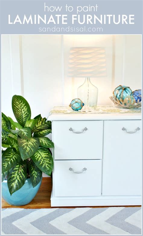 How To Paint Veneer Dresser by How To Paint Laminate Furniture Sand And Sisal