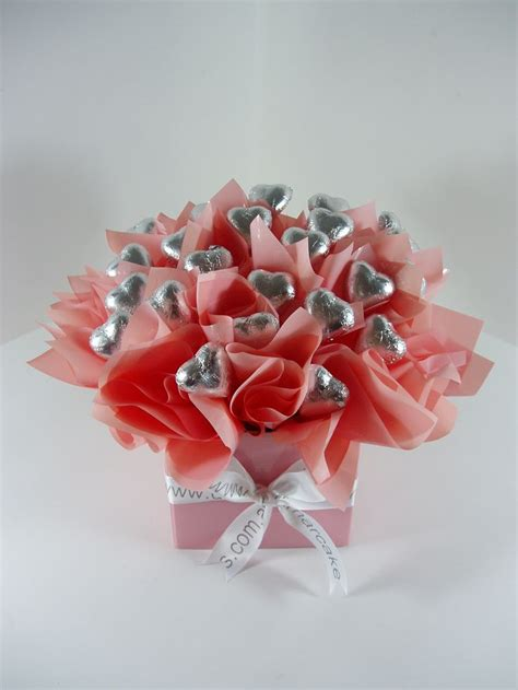 valentines sweet bouquets slver chocolate bouquet