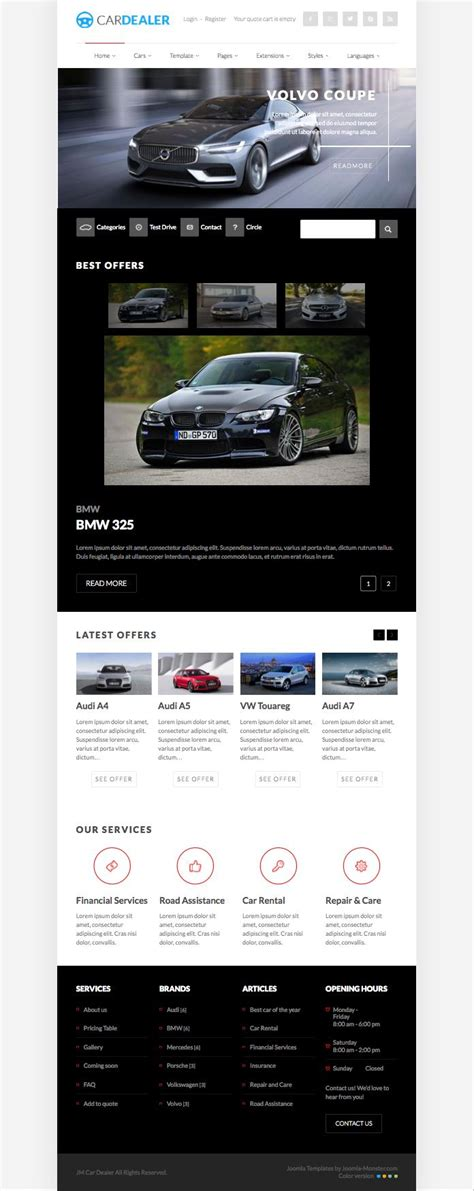 Download Free Car Template For Joomla Software Votemediaget Joomla Automotive Template