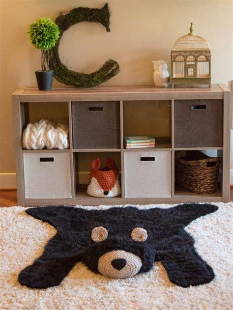 toddler room rugs black rug faux rug woodland nursery baby room decor animal playmat yarns