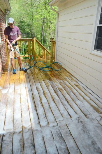 staining sealing  deck finally young house love