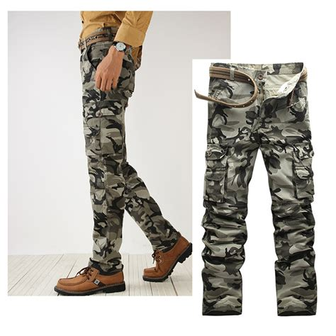 casual cargo for camo camouflage multi pocket trousers ebay