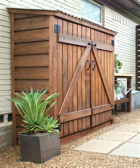 backyard storage 24 practical diy storage solutions for your garden and
