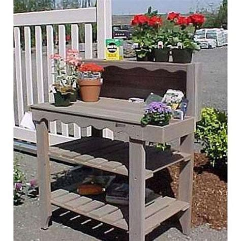 Wood Table Bench Outdoor Cedar Wood Potting Bench Bakers Rack Garden