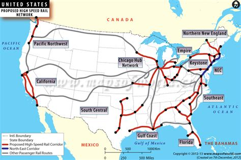 railway map of usa us high speed rail map