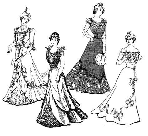 vintage dress coloring page victorian coloring pages of women s dress vintage