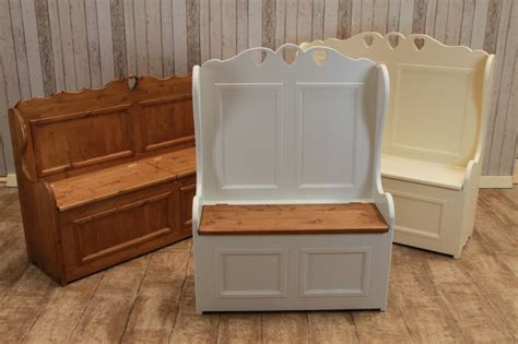 pew storage bench solid oak and pine settle pew bench made to your exact