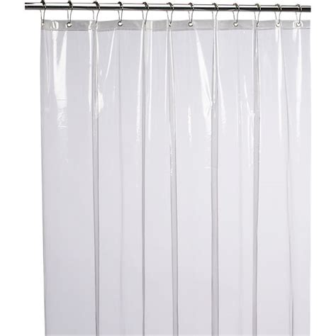 Clear Shower Curtain Liner by Peva Clear Shower Curtain Liner Cb2