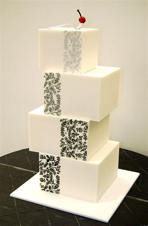Contemporary Wedding Cakes by Bridal Snob Modern Contemporary Wedding Cake