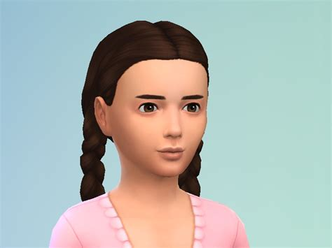 ponytailsims 4 child oelcakim s girl s pigtail braids hairstyle back