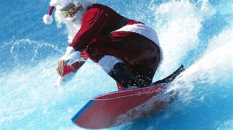 santa on surfboard 1920x1080 humor santa surfer surfing santa claus santa claus surfing