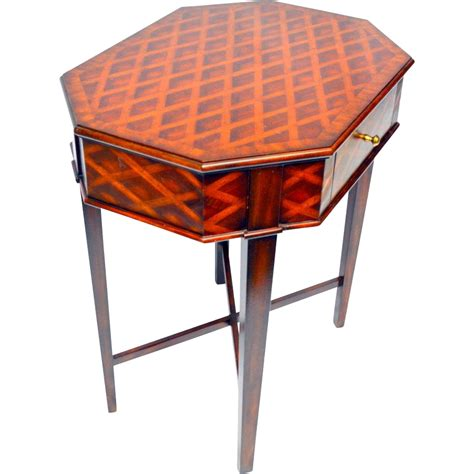 maitland smith table maitland smith parquetry table with drawer from front
