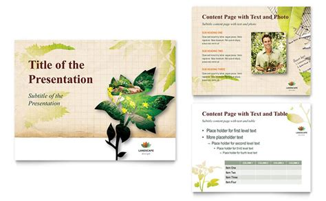 landscape layout powerpoint landscape design powerpoint presentation template design