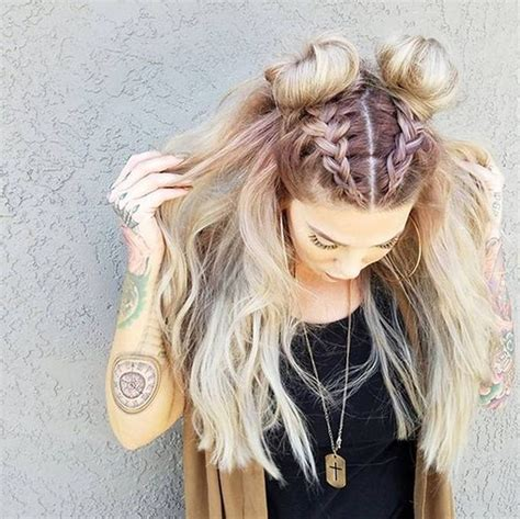 the knot so braided bun trend watch mohawk braid into top knot half up