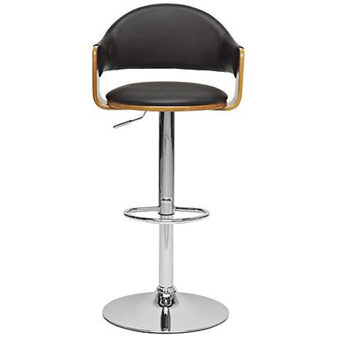 contemporary kelly rolling chrome and black adjustable height stool contemporary bar stools kelly rolling chrome and black adjustable height stool