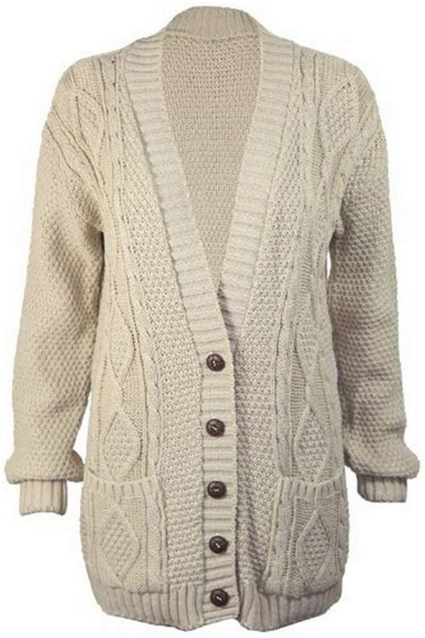 cable knit button cardigan s luxury sleeve chunky button cable knit