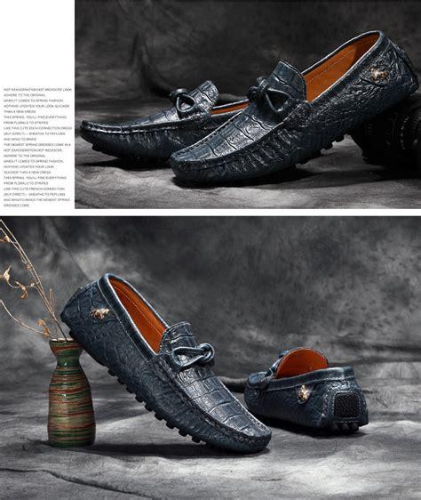 Sepatu Kulit Pria Loafers Moccasin pinsv pria sepatu kulit asli sepatu kasual loafers flat