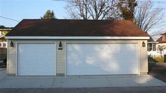 Size Of Two Car Garage by Garage Doors Sizes Amp Standard Garage Door Sizes
