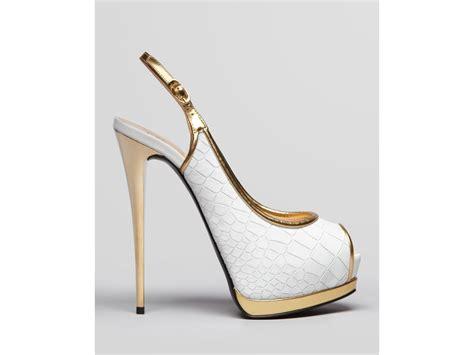 giuseppe zanotti high heels lyst giuseppe zanotti peep toe platform pumps
