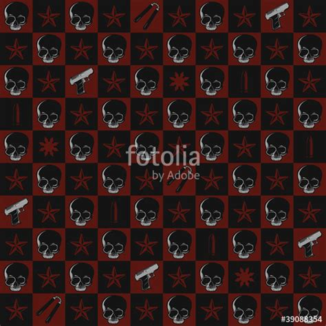 rifle stock pattern download quot skull and gun repeating pattern wallpaper quot stock image