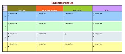 student learning log template learning log template pictures to pin on pinsdaddy