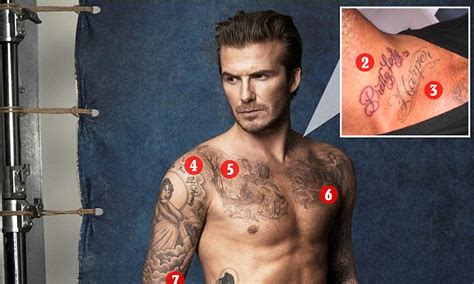 a guide to all of beckham s tattoos david beckham s 40 tattoos and the special meaning