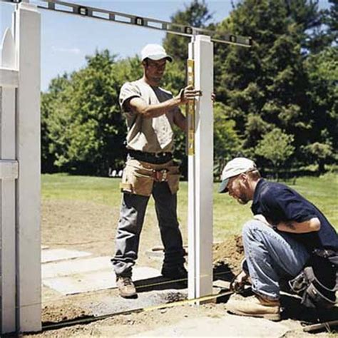 how to install a l post set the gate posts how to install a picket fence this