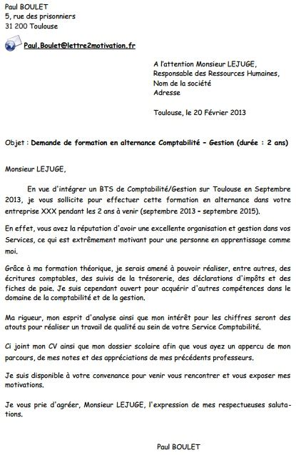 Lettre De Motivation Ecole Bts Alternance Lettre De Motivation Alternance Le Dif En Questions