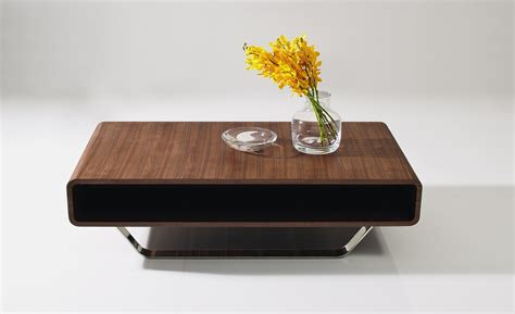 Contemporary Walnut and Chrome Coffee Table Los Angeles California J&M 136