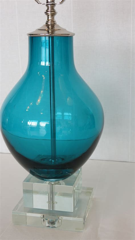 turquoise blue glass ls deep turquoise blue glass l crystal base omero home