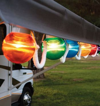 Patio Awning Lights by Rv Awning Globe Light Multi Color 6 Pack