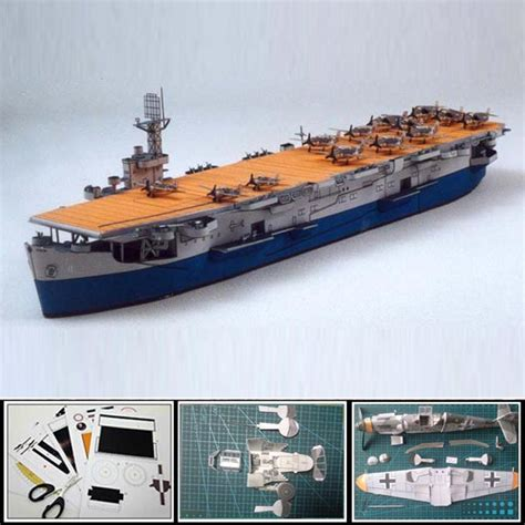 How To Make A Paper Aircraft Carrier - 2016 paper model ships us aircraft carrier card 1