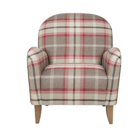 red check armchair shop the trend highland fling