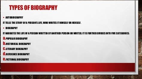 meaning of biography and autobiography biography definition function and types