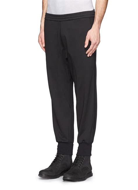 Jogger Sweat Black lyst neil barrett drop crotch tuxedo in black for