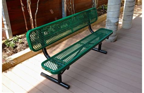 aluminum benches for sale expanded metal bench with back site furnishings