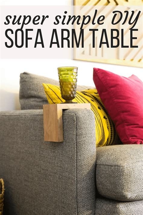 table sofa called sofa arm table an easy diy project renovations