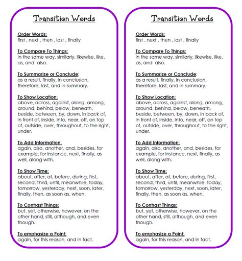 Essay Transition Words by Transition Words For Essays