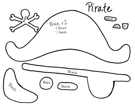 search results for printable cut out pirate hat