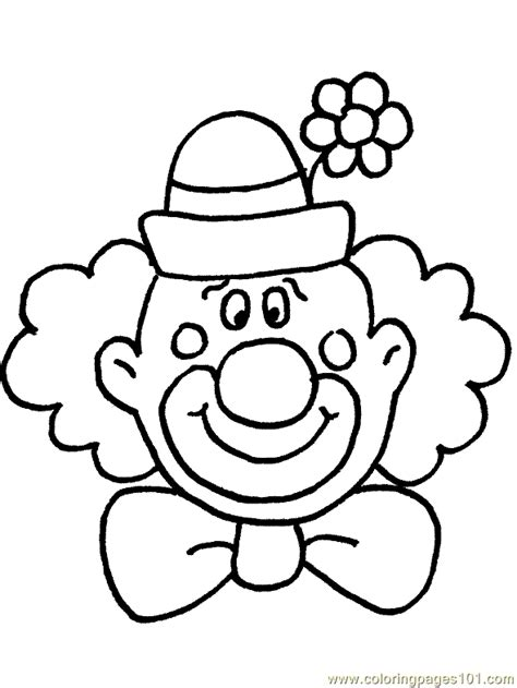 clown colors clown coloring pages free printable coloring page circus