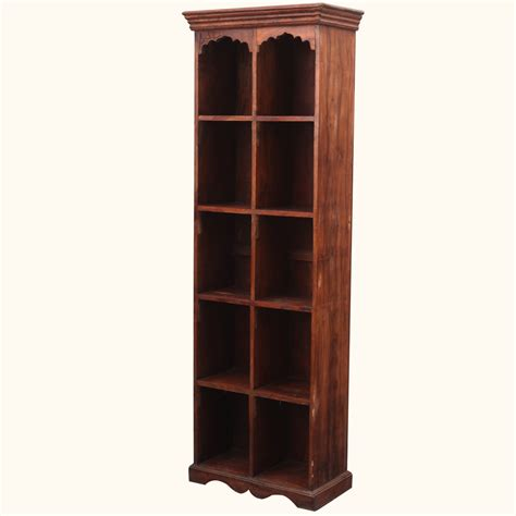Open Bookshelf Room Divider Solid Wood 10 Section Rack Open Bookcase Bookshelf Room Divider Cabinet Ebay