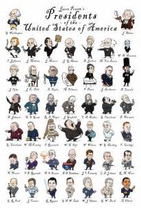 president s this cute caricature poster of the u s presidents was