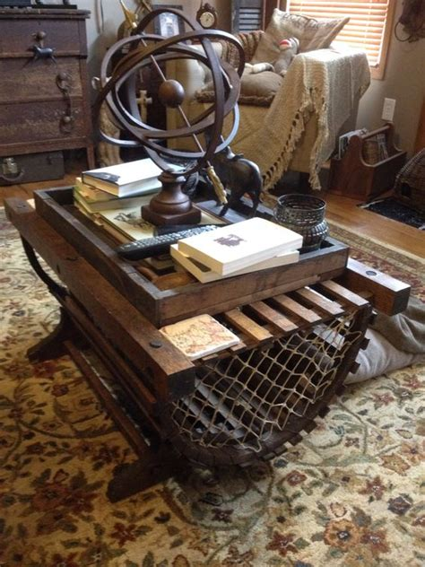 lobster trap coffee table rustic decor the