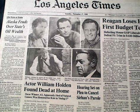 how did william holden die of famed actor william holden rarenewspapers