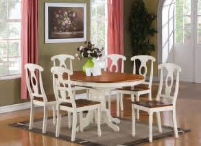 Oval Dining Room Table Set 7 Dining Room Set For 6 Oval Dining Table And 6 Dining Chairs Ebay