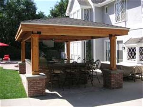 detached covered patio backyard covered