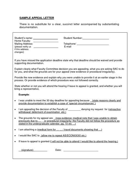 Osap Restriction Appeal Letter Exle Appeal Letter Learn The Basics On How To Write A Great Letter Of Appeal Also Contains