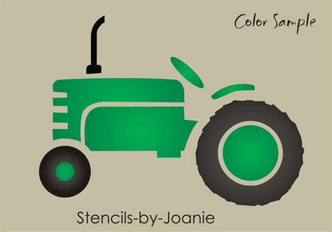 Bedroom Wall Stencils by Garden Stencil Country Vintage Older 4 Quot Tractor Shape Farm