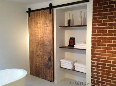 Barn Doors For Bathroom Industrial Barn Door Hardware And Barn Doors Contemporary Bathroom Salt Lake City By