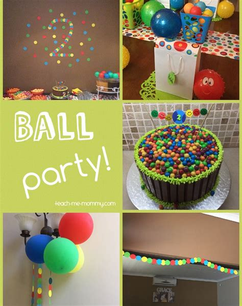 birthday themes for 2 year old ball themed party for a 2 year old themed parties